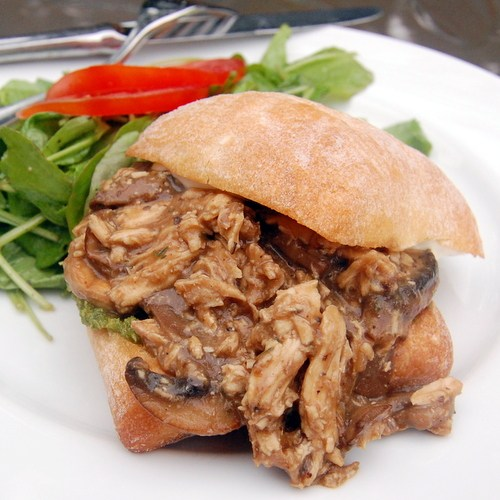 Chicken Marsala Sloppy Joes